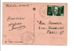 N° 890 SEUL SUR LETTRE DE PARIS 1951 - Storia Postale