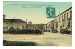 """78 YVELINES MONTESSON Ecole Départementale TH Roussel Maison D'éducation La Promenade Tampon Verso """"Surveillant Général"""" - Montesson"""