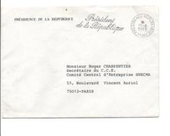 LETTRE EN FRANCHISE DE LA PRESIDENCE DE LA REPUBLIQUE 1983 - Marcophilie (Lettres)