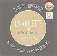 Carte De Visite - Carte De Fidélité - La Violette : Crêperie & Bistrot - Bain-de-Bretagne - Visitekaartjes
