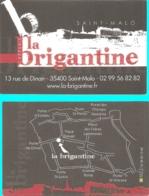 Carte De Visite - Crêperie La Brigantine - Saint-Malo (35) - [restaurant] - Visitekaartjes
