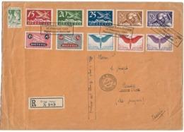 VOL YVERDON BRUGG DU 17 FÉVRIER 1927 SUR LR. 10 TIMBRES PA + VIGNETTE - Posta Aerea