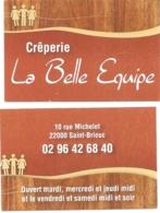 Carte De Visite - Crêperie La Belle Epoque - Saint-Brieuc (22) - [Restaurant] - Visitekaartjes