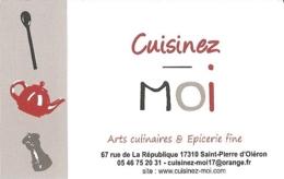 Carte De Visite - Cuisinez-moi - Arts Culinaires & Epicerie Fine - Saint-Pierre D'Oleron (17) - Visitekaartjes