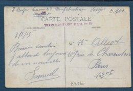 Cachet  Train Sanitaire P.L.M. N° 43 - Marcofilia (sobres)