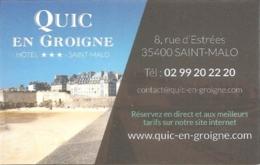 Carte De Visite - Hôtel Quic En Groigne - Saint-Malo (35) - Visitekaartjes