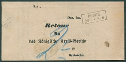 PREUSSEN 1871, R2 BOREK, AUF DIENSTBRIEF NACH KROTOSCHIN, INNENDIENSSTEMPEL - Preussen (Prussia)