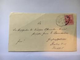 GERMANY 1903 Front Of Cover With Dirschau To Danzig Bahnpost Railway Postmark - Deutschland