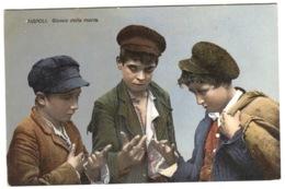Napoli Children's Gam GIUOCO Della Morra Beautiful Color Postcard Sent 1920 - Napoli (Naples)