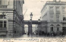 Bruxelles - Place Royale Vers Le Musée Moderne - Places, Squares