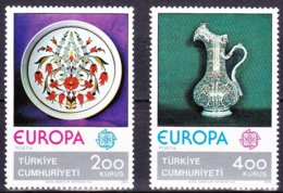 Turkije Turquie 1976 Yvertn° 2155-2156 *** MNH  Cote 8 € Cept Europa - 1921-... República