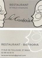 Carte De Visite - La Causerie - Restaurant - Bistroria - Saint-Malo Intra Muros (35) - Visitekaartjes