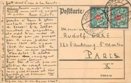 Deutschland - Danzig - Karte Von Danzig - Zoppot Nach Paris Frankreich - Danzig