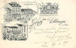 Deutschland - Gruss Aus Dillingen A. D. Saar - Précurseur - Hôtel Schmitt - Other