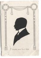 SILHOUETTE Geschn. Von E. Müller Gebe. Wittenbecher Leipzig 1905 Jugendstil Passepartout - Silueta
