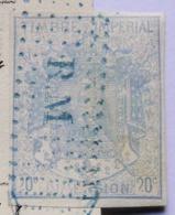 Timbre Impérial De Dimension  20 C Bleu - Revenue Stamps