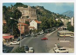 - CPSM MENTON (06) - L'Avenue De Sospel, La Vallée Du Careï Et La Gare D'Autobus 1973 - Editions IRIS - - Menton