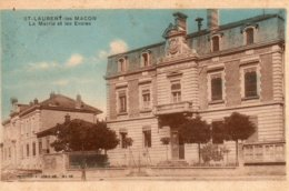 St - Laurent  Les  Macon -   La  Mairie  Et  Les  écoles. - Autres Communes