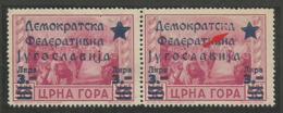 "Yugoslavia,Local Issue-Cetinje 3L/50C 1945.,typical Error-cyrilic ""d"" Instead ""a"",MNH - Nuovi"