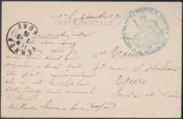 CPA - (27) Dans La Mine - Perforage D'une Mine (cachet Militaire => Salles Milit. De L'hospice De Vernon) - Vernon