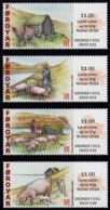Faroe Islands - 2019 - Lunar New Year Of The Pig - Wuhan Stamp Exhibition - Mint Self-adhesive ATM Stamp Set - Faroe Islands