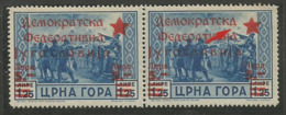 "Yugoslavia,Local Issue-Cetinje 5L/1.25L 1945.,typical Error-cyrilic ""d"" Instead ""a"",MNH - Unused Stamps"