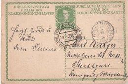 AUTRICHE 1908  ENTIER POSTAL/GANZSACHE/POSTAL STATIONERY CARTE  DE PRAG - Interi Postali