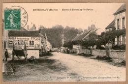 51 / ESTERNAY - Route D'Esternay-le-Franc - Affiche, Charrette, Petite Animation (tampon 1912) - Esternay