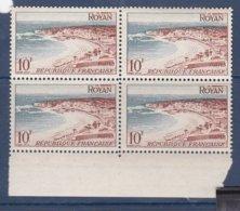 N° 978 Série Touristique: Royan: Beau Bloc De 4Timbres Neuf Impeccable Sans Charnière - France