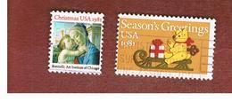 STATI UNITI (U.S.A.) - SG 1916.1917  -  1981 CHRISTMAS (COMPLET SET OF2)   -  USED - Usati