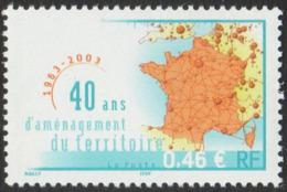 France Neuf Sans Charnière 2003  Aménagement Du Territoire  Carte De France  YT 3543 - Neufs