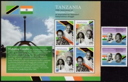 Tanzania - 2019 - 150th Anniversary Of Mahatma Gandhi Birth - Mint Stamp Set + Stamp Sheetlet - Tanzania (1964-...)