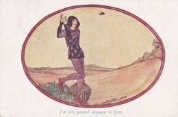 240433Rie Cramer, Vieilles Chansons. J'ai Un Grand Voijage à Fair.(poststempel 1922)(scheurtje Zie Achterkant) - Illustratori & Fotografie