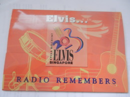 3 TELECARTES   PHONECARDS SINGAPORE ELVIS PRESLEY AVEC SON EMBALLAGE NEUF RADIO HMV - Music
