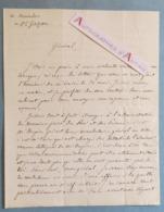 L.A.S 1849 Camille Bachasson Comte De MONTALIVET Né à Valence - Au Général GAZAN - Dupin - Fain - Lettre Autographe LAS - Autografi