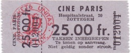 Ticket D' Entrée Ingangsticket - Cinema Bioscoop Ciné Paris - Zottegem - Tickets - Entradas