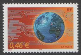 France Neuf Sans Charnière 2002 Le Monde En Réseau  Courrier Entreprise  Communication  YT 3532 - Neufs