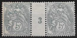 T 00712 - France 1900-24 Millésimé Du 111c Neuf Charnière Côte 19.00 € - 1900-29 Blanc
