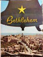 Old Vintage Beautiful Postcard CHRISTMAS BELLS Jerusalem Bethlehem Jordan 1960's / 70's - Giordania