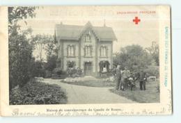 ROUEN - Croix Rouge - Maison De Convalescence Du Comité - Belle Scène Animée - 2 Scans - Croce Rossa