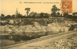 Cpa MATRINGHEM 62 Les Carrières De Grès - Rare - - France