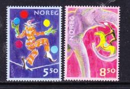 Europa Cept 2002 Norway 2v ** Mnh (Circus) (45188K) ROCK BOTTOM PRICE - 2002