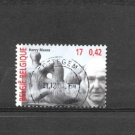 COB 2961 - Le Tour Du 20eme Siècle - Henry Moore - 2000 - Du BL87 - Oblitérés