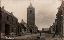 ! [62] Vitry-en-Artois, Eglise, Grand Place, 1917, Carte Photo Allemande, 1. Weltkrieg, Guerre 1914-18, Fotokarte - Vitry En Artois