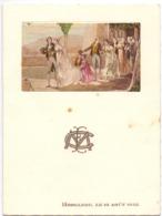 Menu - Feestmaal - Hooglede 10 Aug. 1935 - Menus