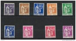 """FR YT 363 à 371 """" Type Paix Série Complète """" 1937-39 Neuf* - 1932-39 Vrede"""