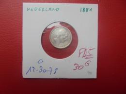 PAYS-BAS 10 CENTS 1881 ARGENT (A.1) - [ 3] 1815-… : Regno Dei Paesi Bassi