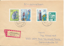 Germany DDR Registered Cover Dresden 22-20-1975 Topic Stamps - [6] Democratic Republic