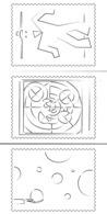 FranceLot De 5 Cartes Postales à Colorier émises Par La Poste - Silhouette De Timbres : Léger - Xxx - Folon - Saint - Documenti Della Posta
