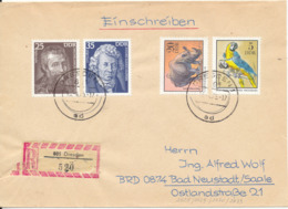 Germany DDR Registered Cover Dresden 16-4-1975 Topic Stamps - [6] Democratic Republic